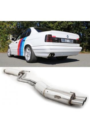FOX Sportauspuff Komplettanlage ab Kat. BMW 5er E34 530i 2x76mm Typ 14