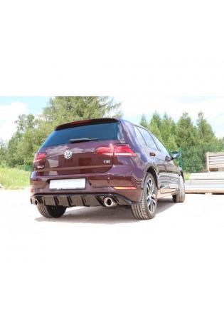 FOX Duplex Sportauspuff VW Golf VII Facelift Einzelradaufhängung re/li je 1x100mm inkl. Heckeinsatz schwarz lackiert