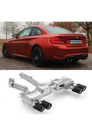 Eisenmann Sportauspuff BMW F87 M2 Competition re/li je 2x 90mm Chrom Schwarz