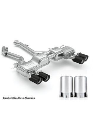 Eisenmann Sportauspuff BMW F87 M2 Competition re/li je 2x 90mm Chrom Aluminium