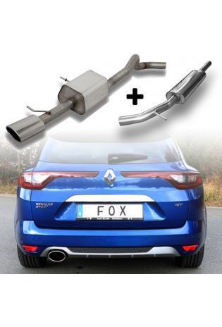 FOX Sportauspuff Komplettanlage ab Kat. Renault Megane IV Grandtour 140x90mm Typ 32