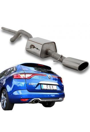 FOX Sportauspuff Racinganlage ab Kat. Renault Megane IV Grandtour 140x90mm Typ 32