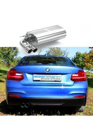 EISENMANN Sportauspuff Endschalldämpfer BMW F22 F23 230i links 2x76mm