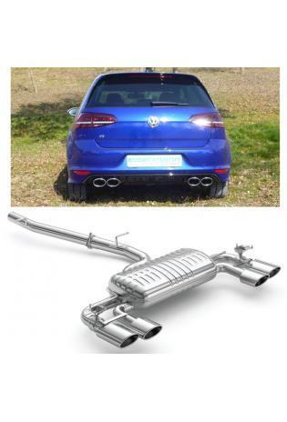 EISENMANN Duplex Sportauspuff mit Anschlussrohr VW Golf 7 R 2.0l TSI re/li je 2x120x77mm