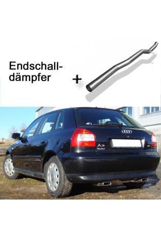 FOX Racinganlage ab Kat. Audi A3 8L Quattro 1.8T 1.9l TDI re/li je 1x130x50mm eingerollt mit Absorber