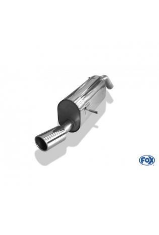 FOX Racinganlage ab Kat. Peugeot 207 Schrägheck 208 ab Bj. 07 1.4l 1.6l 1 x 90mm schräg