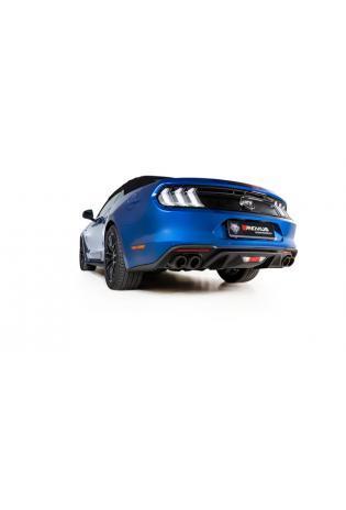 REMUS Duplex Komplettanlage ab Kat. Ford Mustang VI Facelift 5.0l V8 re/li je 2x102mm Carbon