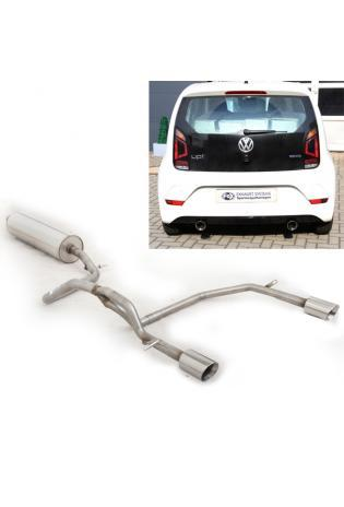 FOX Duplex Sportauspuffanlage ab Kat VW UP GTI ab Bj. 2017 links rechts je 1x90mm Typ 25