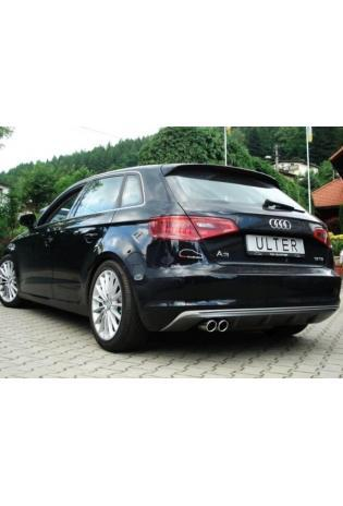 Ulter Sportauspuff Endschalldämpfer für Audi A3 Typ 8V Sportback 1.4l links 2x70mm
