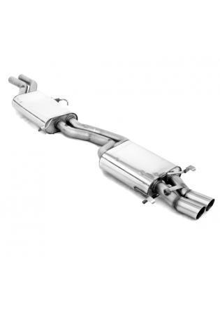 FOX Komplettanlage ab Kat. Audi 100 - S4 - A6 u. S6 Quattro  2.2l  4.2l  2 ER 76mm
