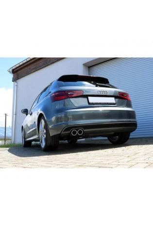 FOX Sportauspuff Racinganlage ab Kat. Audi A3 8V S-Line 2x80mm Typ 16