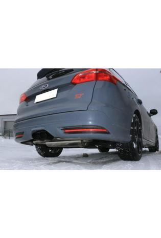 FOX Racinganlage ab Kat. Ford Focus III ST Turnier mittig 2x115x85mm Typ 32 schwarz beschichtet