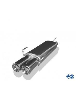 FOX Racinganlage ab Kat. Opel Astra Fließheck 3-Punkt Aufhängung ab Bj. 88 2 x 80mm eingerollt