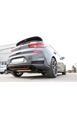 FOX Duplex Sportauspuff Hyundai i30N Performance 2.0l rechts links je 1x129x106mm schwarz