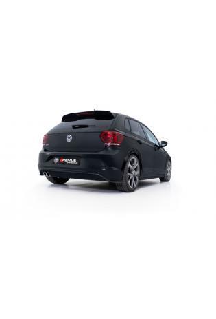 Remus Sportauspuff Komplettanlage ab Kat. VW Polo 6 Typ AW 2.0l TSI ab Bj. 2019 links 2x84mm schräg