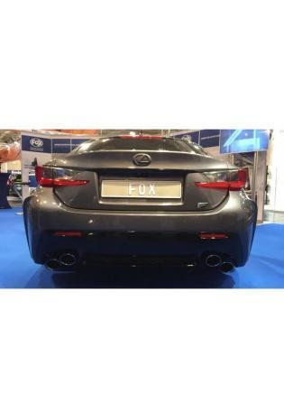 FOX Duplex Sportauspuff Komplettanlage ab Kat. Lexus RC F re/li je 2x115x85mm Typ 38 Colour (Rand eingefärbt)