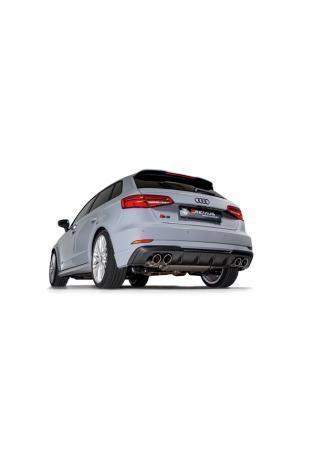 Remus Duplex Klappen Sportauspuff Anlage ab Kat. Audi S3 Typ 8V Sportback quattro rechts links je 2x90mm