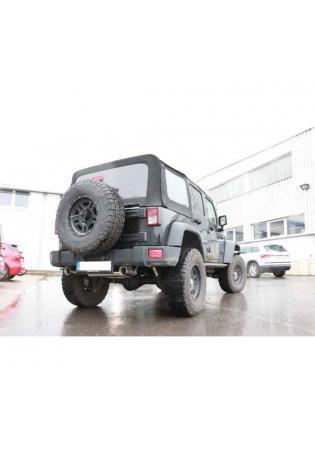 FOX Duplex Sportauspuff Jeep Wrangler III Typ JK rechts links je 1x100mm