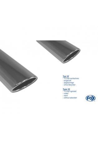 FOX Duplex Sportauspuff Seat Altea XL 5P Frontantrieb rechts links je 1x129x106mm Typ 32