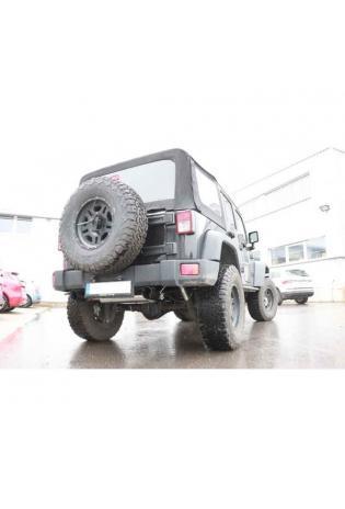 FOX Duplex Sportauspuff Jeep Wrangler III Typ JK rechts links je 1x100mm Schwarz glänzend