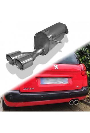 FOX Sportauspuff Endschalldämpfer Peugeot 207 SW RC einseitig 2x100mm Typ 16
