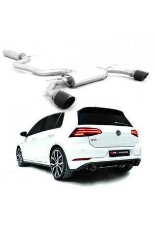 Remus Duplex Sportauspuff Komplettanlage ab Kat. VW Golf 7 GTI TCR rechts links je 1x102mm Carbon