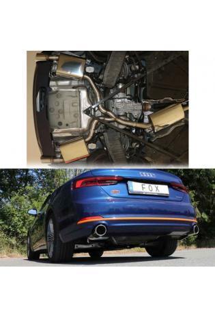FOX Duplex Komplettanlage ab Kat. Audi A5 quattro B9 Cabrio rechts links einflutig 1x100mm