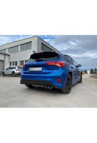 FOX Sportauspuff Endschalldämpfer Ford Focus IV starrer Hinterachse rechts 2x80mm