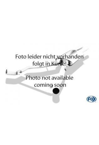 FOX Sportauspuff Mittelschalldämpfer Ersatzrohr BMW X3 E83 ab Bj. 04 2.5l  3.0l  2.0l D  3.0l D