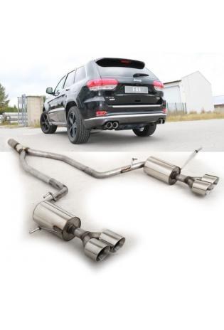FOX Duplex Sportauspuff Jeep Grand Cherokee WKII ab 2014 rechts links je 2x100mm Absorber