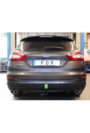 FOX Duplex Sportauspuff Ford Mondeo V Schrägheck Turnier Stufenheck rechts links je 2x76mm