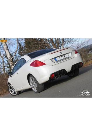 FOX Sportauspuff Racinganlage ab Kat Peugeot 308cc 1.6l  2x106x71mm oval