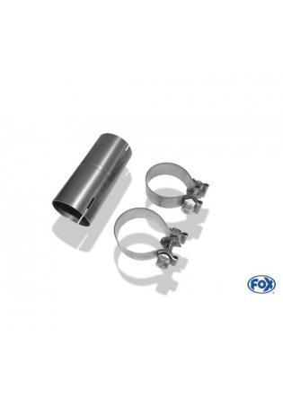 FOX Sportauspuff Verbindungsrohr auf 40mm Fiat 500/ 500C