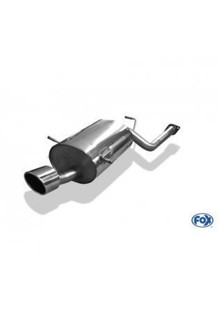 FOX Sportauspuff Endschalldämpfer Subaru Impreza GD GG Stufenheck Kombi 1x140x90mm