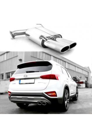 FOX Sportauspuff Endschalldämpfer Hyundai Santa Fé IV Typ TM 4x4 2x106x71mm