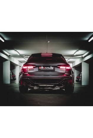 Remus Duplex Klappen Racinganlage ab Kat. Audi RS6 C8 RS7 4K rechts links je 2x102mm Carbon