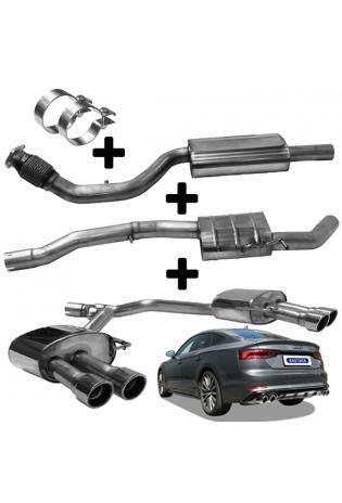 BASTUCK Duplex Anlage ab Kat. mit Partikelfilter Audi A4 B9 A5 F5 TFSI quattro rechts links je 2x90mm