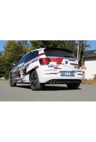 FOX Sportauspuff Racinganlage ab Kat. ohne OPF VW Polo AW1 GTI links 2x90mm Typ 16