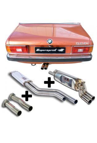 Supersprint Sportauspuff Komplettanlage ab Krümmer BMW E24 und E12