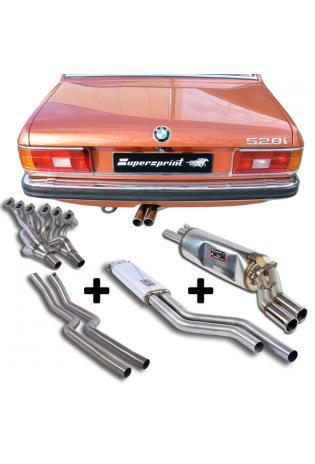 Supersprint Sportauspuff Komplettanlage mit Fächerkrümmer BMW E24 und E12