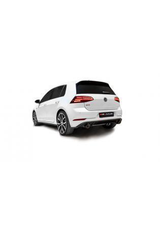 REMUS Duplex Racinganlage ab Kat. VW Golf 7 GTI Performance Facelift mit OPF je 2x102mm schräg
