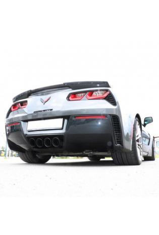 FOX Sportauspuff CHEVROLET Corvette C7 Ausgang mittig mit 4x100mm Schwarz Typ 25