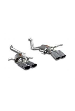 Supersprint Sportauspuff Duplex Mercedes M-Klasse W164 ML Endschaldämpfer links mit 2x 120x80mm oval für AMG Stoßstange