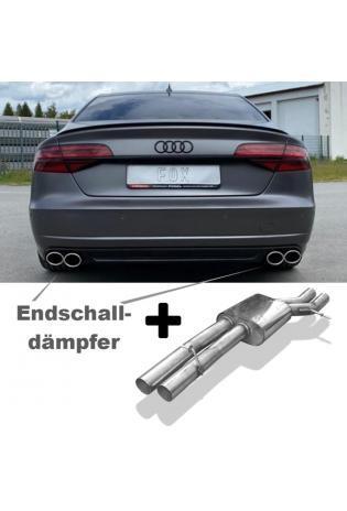 FOX Duplex Klappen Komplettanlage ab Kat. Audi S8 Typ 4H 4.0l rechts links je 2x106x71mm