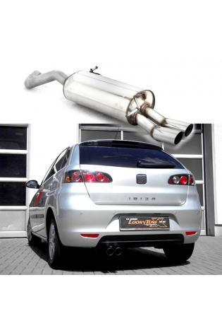 BASTUCK Sportauspuff Seat Ibiza 6L Skoda Fabia 1 Typ 6Y Benzin u. Diesel 2x70mm