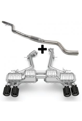Eisenmann Klappen Racinganlage ab Kat. BMW G20 3er 320i 330i inkl. xDrive re li je 2x90mm gerade Chrom-Alu