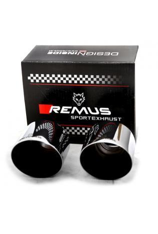 Remus Endrohr-Set mit neuem REMUS Logo 2 Endrohre Ø 115 mm schräg, verchromt Hyundai i30N Performance Toyota Subra GR