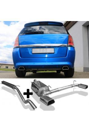 FOX Sportauspuff Komplettanlage ab Kat. Opel Zafira B OPC 2.0l rechts links je 1x142x78mm