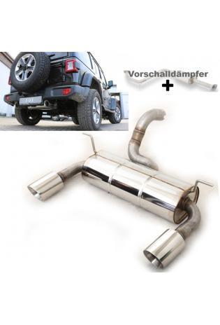 FOX Duplex Komplettanlage ab Kat. Jeep Wrangler IV  JL 2.0l rechts links je 1x100mm