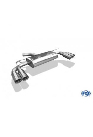 FOX Komplettanlage ab Kat. Audi A3 8V Limousine 1.8l TFSI mit S-Line rechts links je 2x80mm